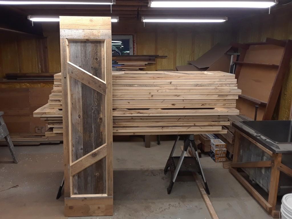 14 barn-wood doors, ready to install.